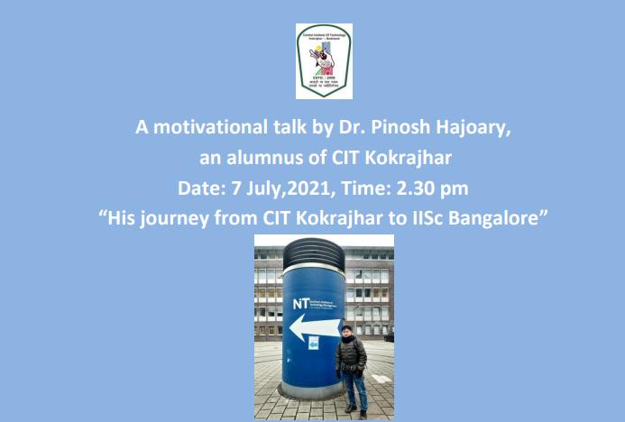 A Motivational Talk by Dr. Pinosh Hajoary (Watch Now)